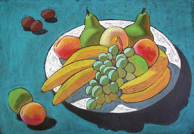 Натюрморт с фруктами карандашом для начинающих картинки